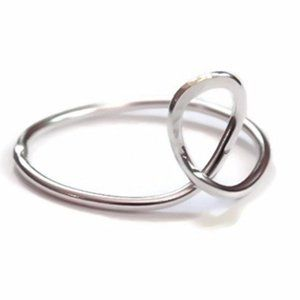 Artisan made looped solid 925 sterling silver ring